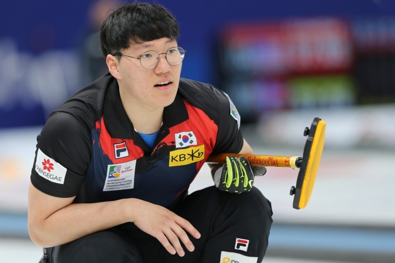 South Korea secured their place in the next round of the men's tournament at the 2017 World Junior Curling Championships ©WCF