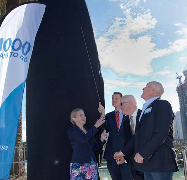 Gold Coast 2018 unveil surfboard-shaped countdown clock to mark 1,000 days until start of Commonwealth Games
