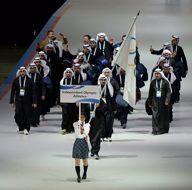 Kuwait athletes marching at the Opening Ceremony of the Asian Winter Games ©OCA/Minjae Kim