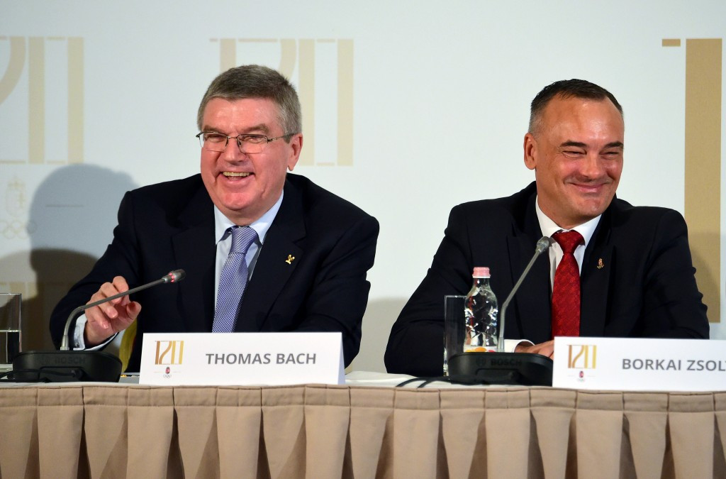 Hungarian Olympic Committee President Zsolt Borkai claims IOC counterpart Thomas Bach believes national success has been sacrificed for political gain in Budapest's bid for the 2024 Olympic and Paralympic Games ©Getty Images