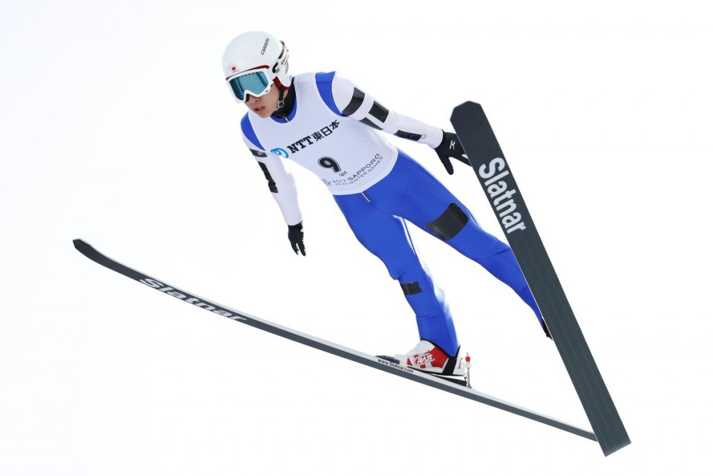 Japan's Yukiya Sato claimed the Asian Winter Games gold medal with two impressive jumps ©Twitter/JOC