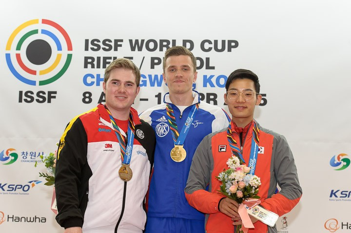 France's Quiquampoix breaks world record to take rapid fire gold at ISSF World Cup