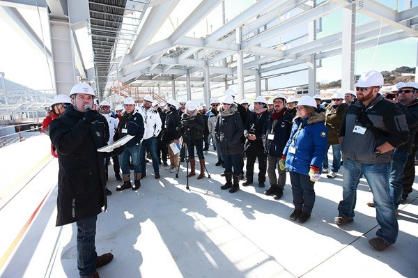 Attendees to the meeting were given a tour of the Pyeongchang 2018 venues ©Pyeongchang 2018