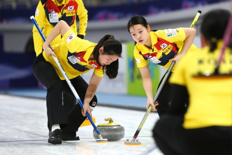 South Korea's women's team beat Switzerland 9-5 today ©WCF