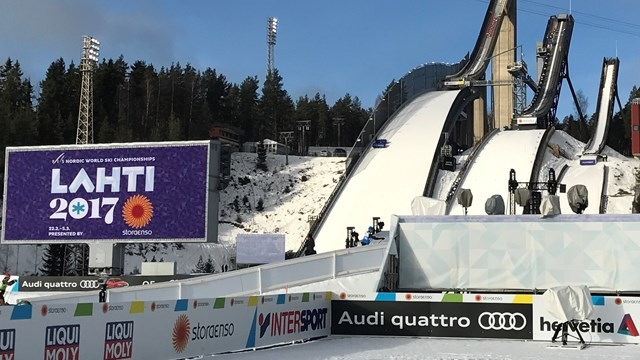"FIS President Gian-Franco Kasper praised the ""rich tradition"" of Lahti ©FIS"
