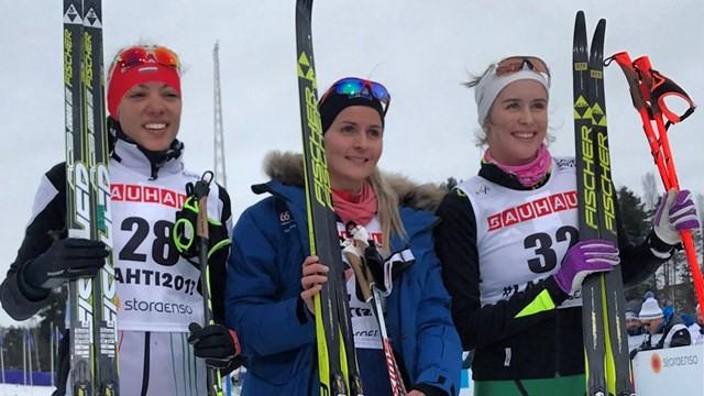 Iceland's Elsa-Gudrun Jonsdottir won the women's 5 kilometres qualification race today ©FIS