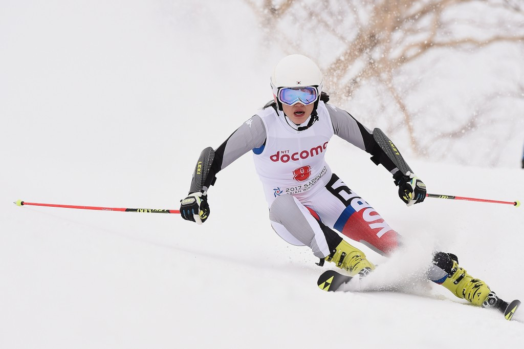 Kang Seo-young was another beneficiary of the no clean sweeps rule today, taking giant slalom bronze despite finishing fourth ©Getty Images