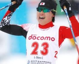 Yuki Kobayashi won the women's five kilometre classical event ©JOC/Twitter