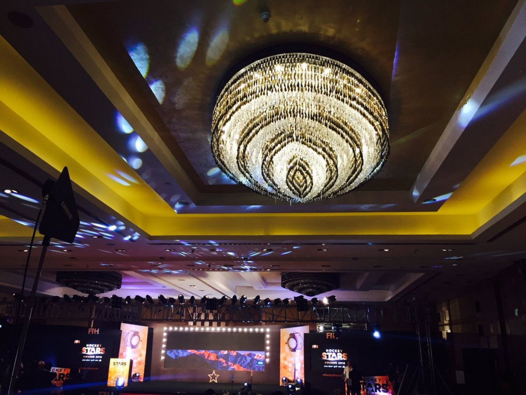 The Ceremony took place at the five-star Lalit Hotel in Chandigarh ©FIH