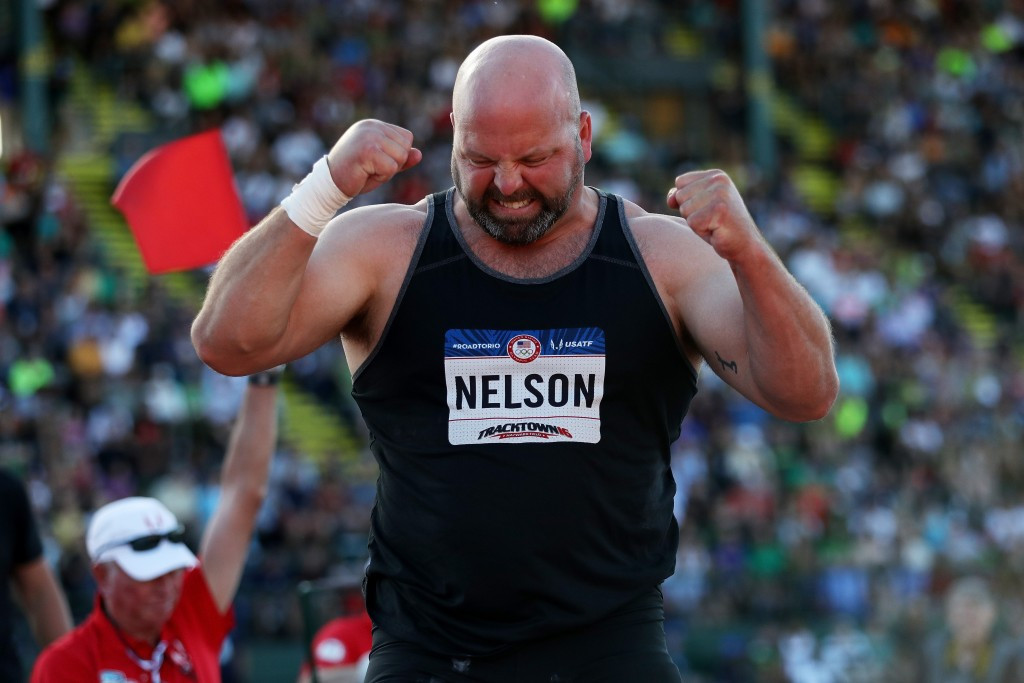 Adam Nelson had to wait nine years to receive the men's shot put gold from the Athens 2004 Olympics after Ukrainian Yuriy Bilonoh tested positive for drugs ©Getty Images