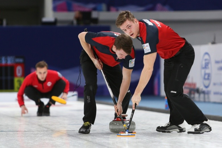 Norway's men helped themselves into a tie-breaker after beating Switzerland 8-6 today ©Getty Images