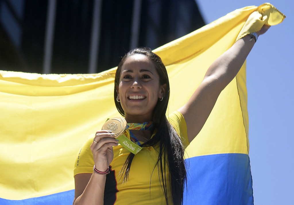 Mariana Pajón was one of three Olympic champions from Colombia at Rio 2016 ©Getty Images