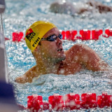 Papua New Guinea swimming star Ryan Pini bagged two gold medals on a superb night of swimming action ©Port Moresby 2015