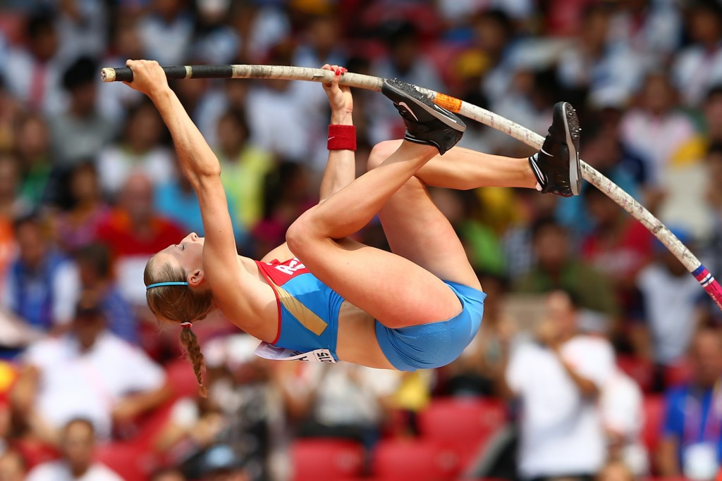 Pole vaulter Anzhelika Sidorova is one of three athletes cleared to compete ©Getty Images