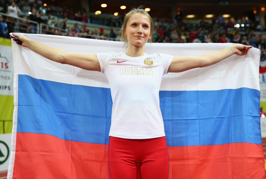 Anzhelika Sidorova can now defend her European indoor pole vault title as a neutral ©Getty Images