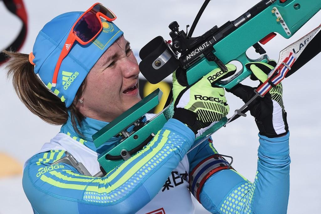 Vishnevskaya doubles gold medal tally in biathlon pursuit event in Sapporo