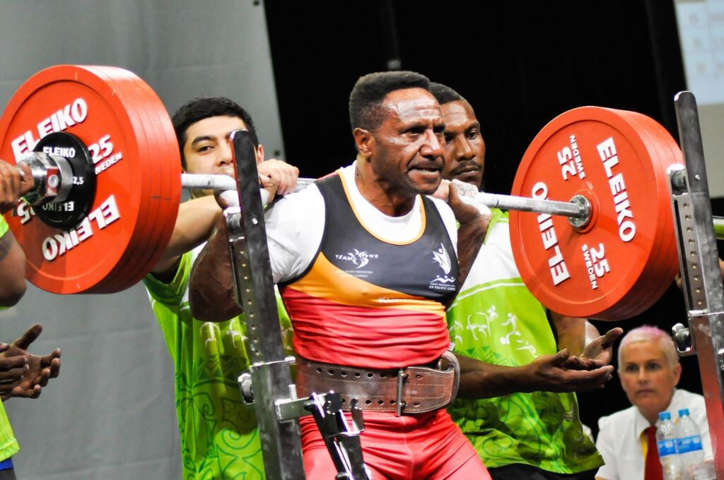 Papua New Guinea in seventh heaven on opening day of Pacific Games powerlifting action