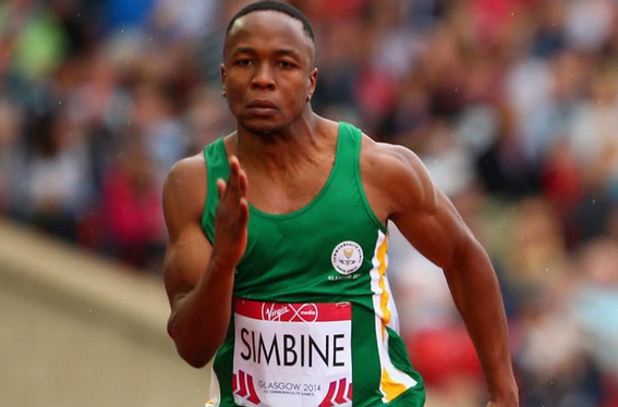 Akani Simbine, pictured last year, performed brilliantly to win the Gwangju 2015 100m title ©Twitter