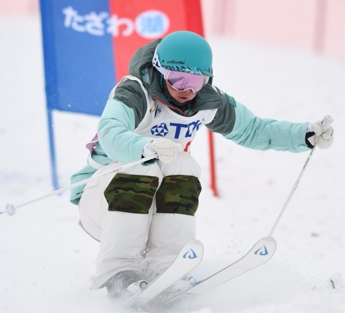 Galysheva defends dual moguls title at Asian Winter Games