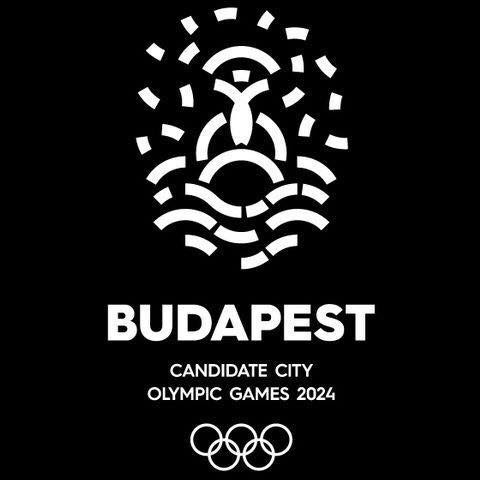 Shortly after Wednesday's announcement, the profile picture on the Budapest 2024 Facebook page was changed to this design, the bid logo on a black background ©Budapest 2024/Facebook
