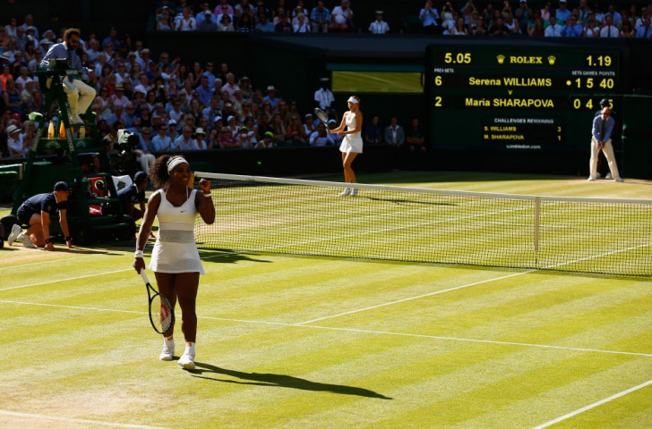 Williams eases past Sharapova to set up Wimbledon final with surprise Spaniard