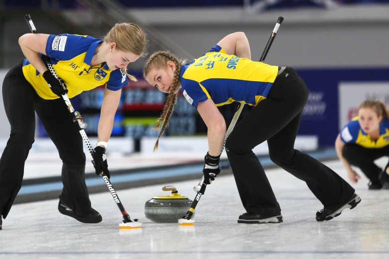 Sweden have reached the final of the women's competition at the 2017 World Junior Curling Championships ©WCF
