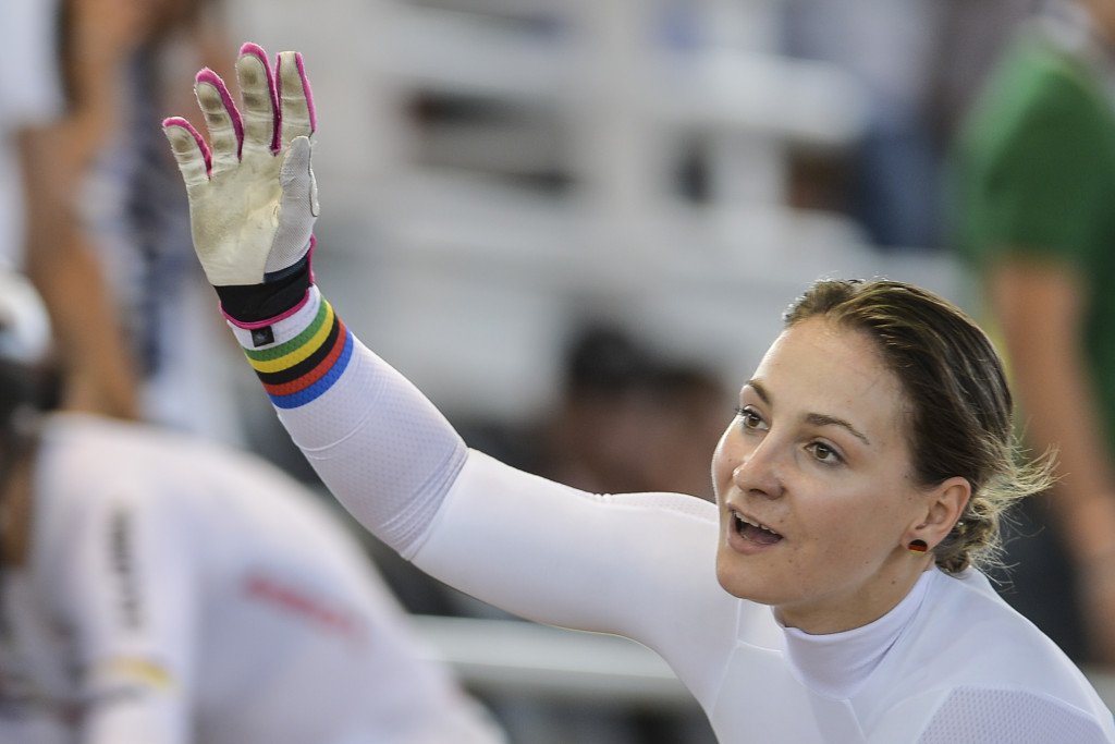 Germany's Kristina Vogel claimed three victories at the last UCI Track World Cup stage in Cali, Colombia ©Getty Images