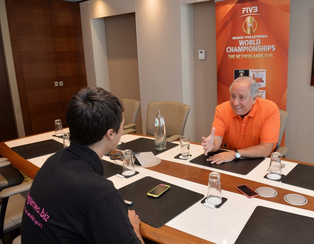 Exclusive: FIVB President Graça hopeful of taking Beach Volleyball World Championships to London