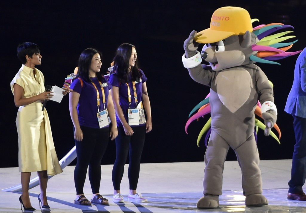 Pachi, a porcupine, was the mascot for the Toronto 2015 Pan American and Parapan American Games ©Getty Images