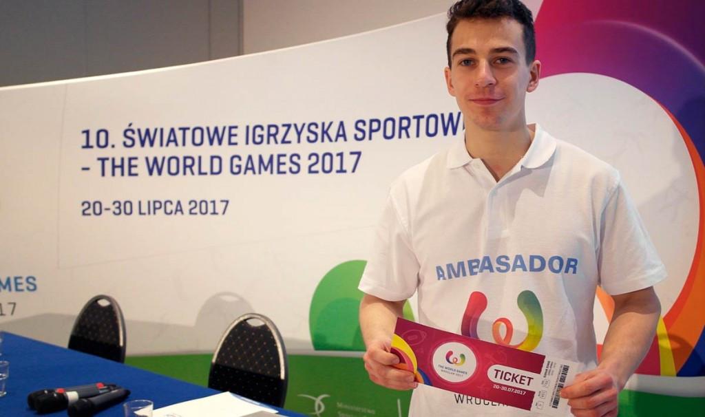Polish sport climber Marcin Dzienski has been unveiled as the latest ambassador for the 2017 World Games ©IWGA