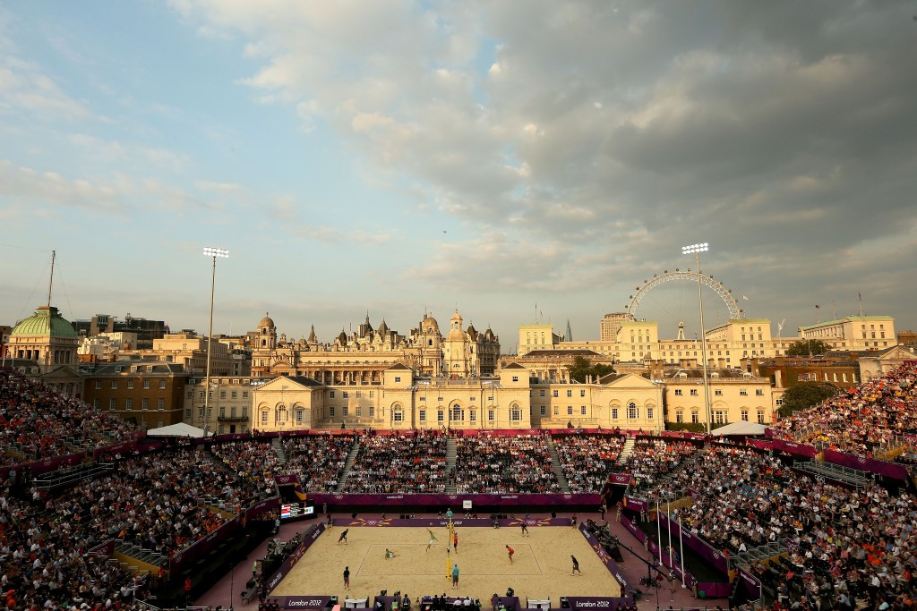 Beach volleyball had the iconic venue of Horse Guards Parade at the London 2012 Olympics, but looks unlikely to return there for a World Championships