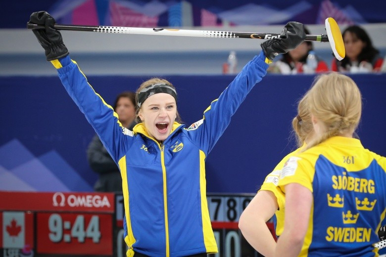 Sweden have won the women's competition at the World Junior Curling Championships ©WCF