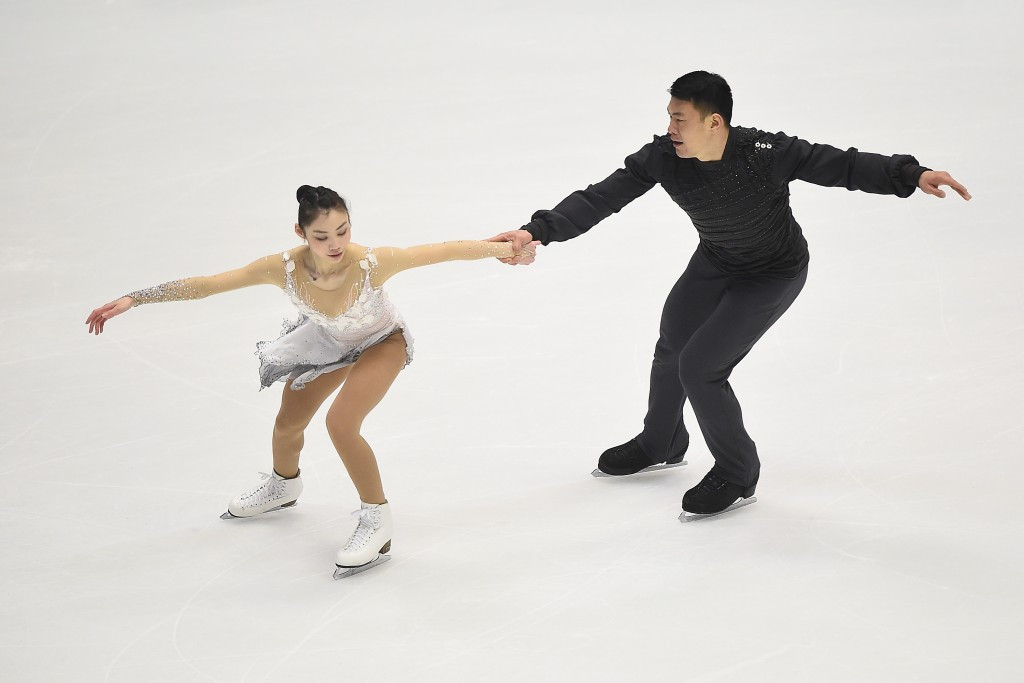 China's Yu Xiaoyu and Zhang Hao won the pairs event ©Getty Images