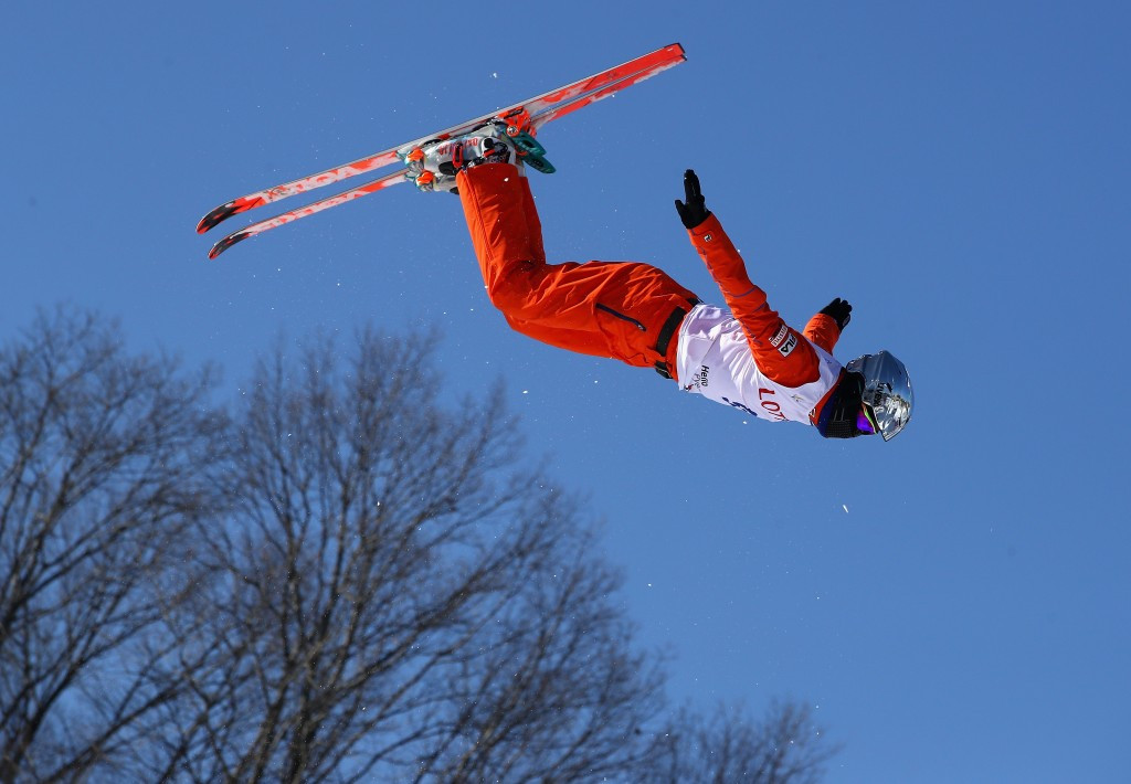 China's Wang Xindi won today's men's aerials competition in Belarus' capital Minsk ©Getty Images