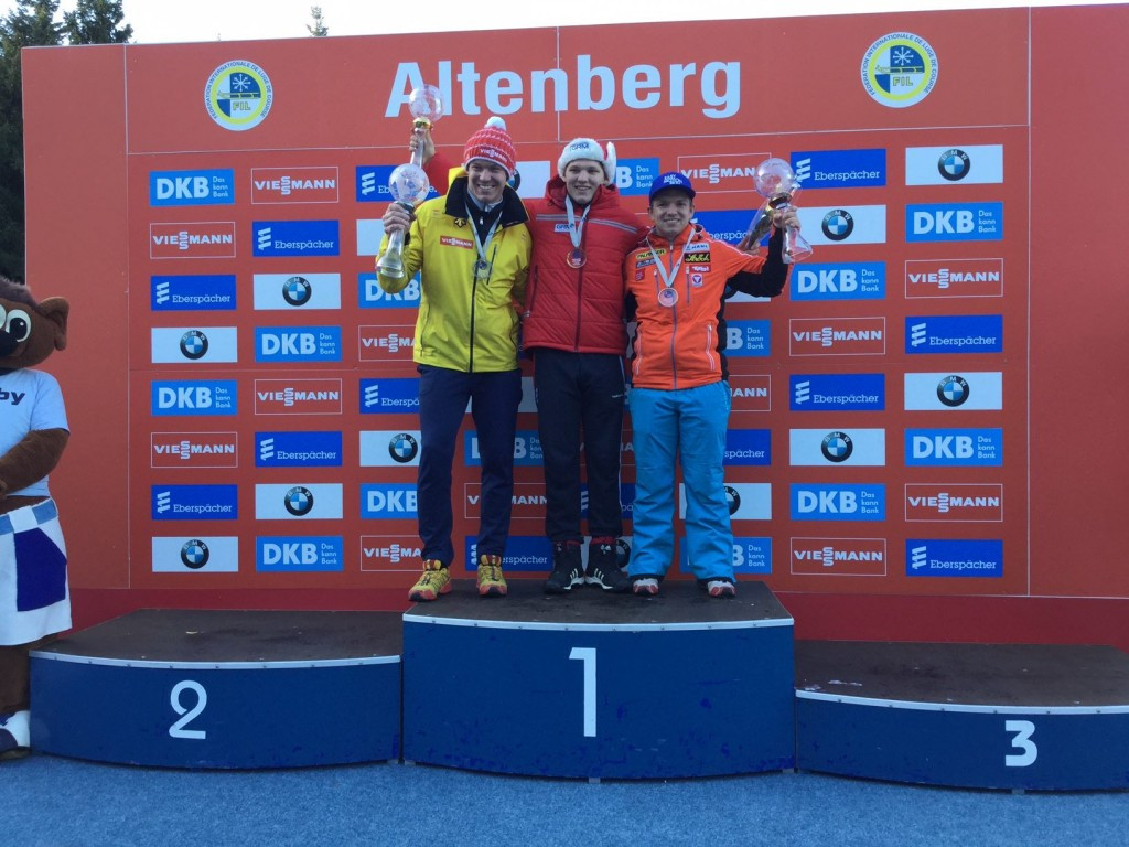 Roman Repilov won today's race in Altenberg to become on the second Russian to win the FIL World Cup ©FIL