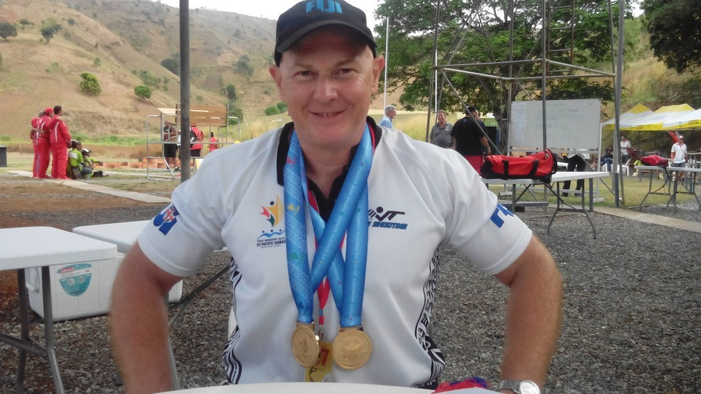 Fijian shooter Glen Kable won single rise gold at the Pacific Games ©Port Moresby 2015