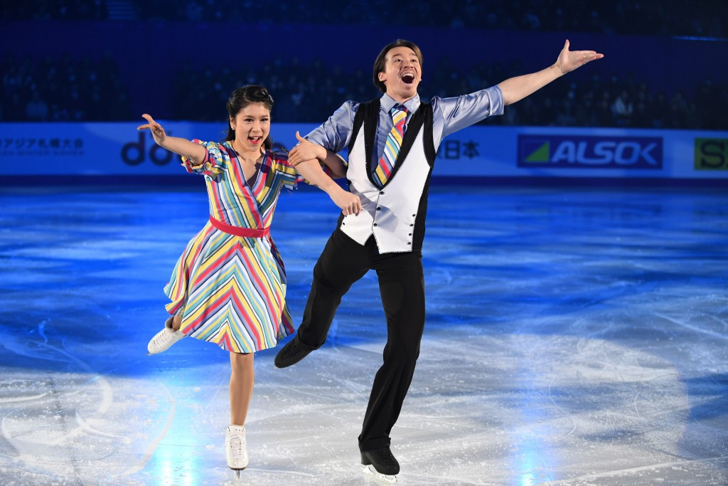 Kana Muramoto and Chris Reed of Japan performing in the exhibition gala part of the Closing Ceremony ©Getty Images