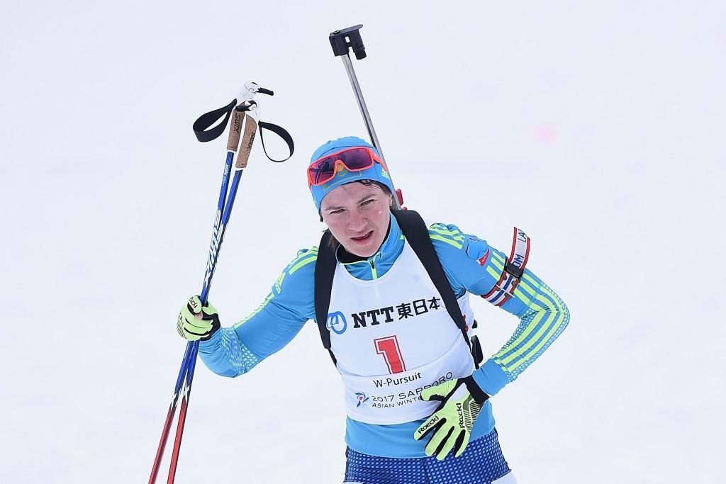 Vishnevskaya seals biathlon quadruple at Asian Winter Games