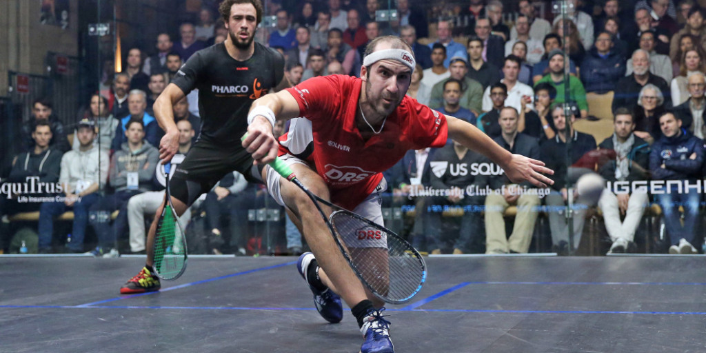 Germany's Simon Rösner became the first player to book a place in the semi-finals of the Professional Squash Association World Series Finals ©PSA