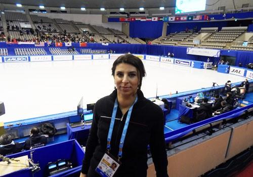 Dr Nibal Khalil at the Makomanai Indoor Skating Rink during the 2017 Asian Winter Games ©OCA