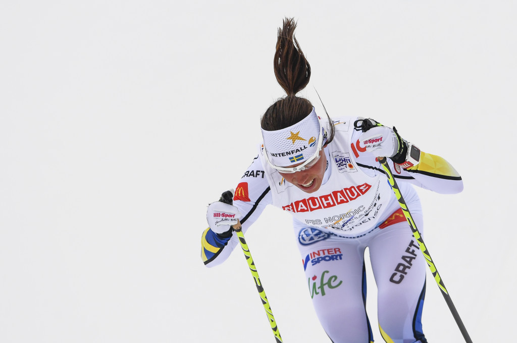 Sweden's Charlotte Kalla finished in the silver medal position in the women's 10 kilometres cross-country classic at the FIS Nordic Ski World Championships ©Getty Images