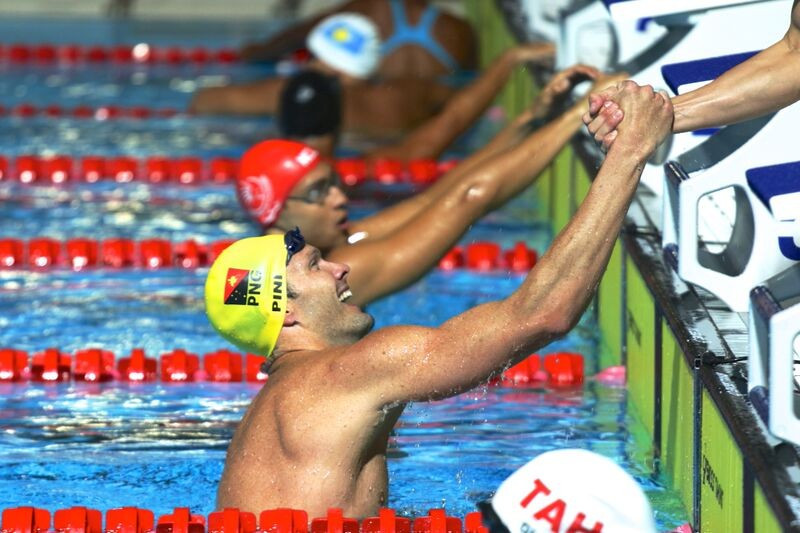 Ryan Pini of Papua New Guinea bagged another two golds to the delight of the home crowd