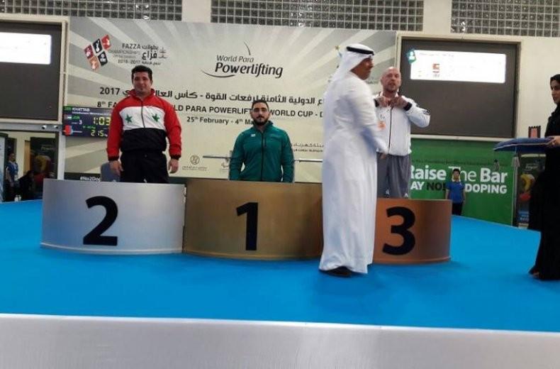 Jordan win third gold medal at Dubai Powerlifting World Cup