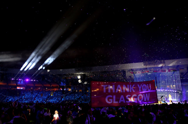 Australian pop singer Kylie Minogue performs at the Closing Ceremony of Glasgow 2014 - Games which were about more than simply faster, higher, stronger.... ©Getty Images