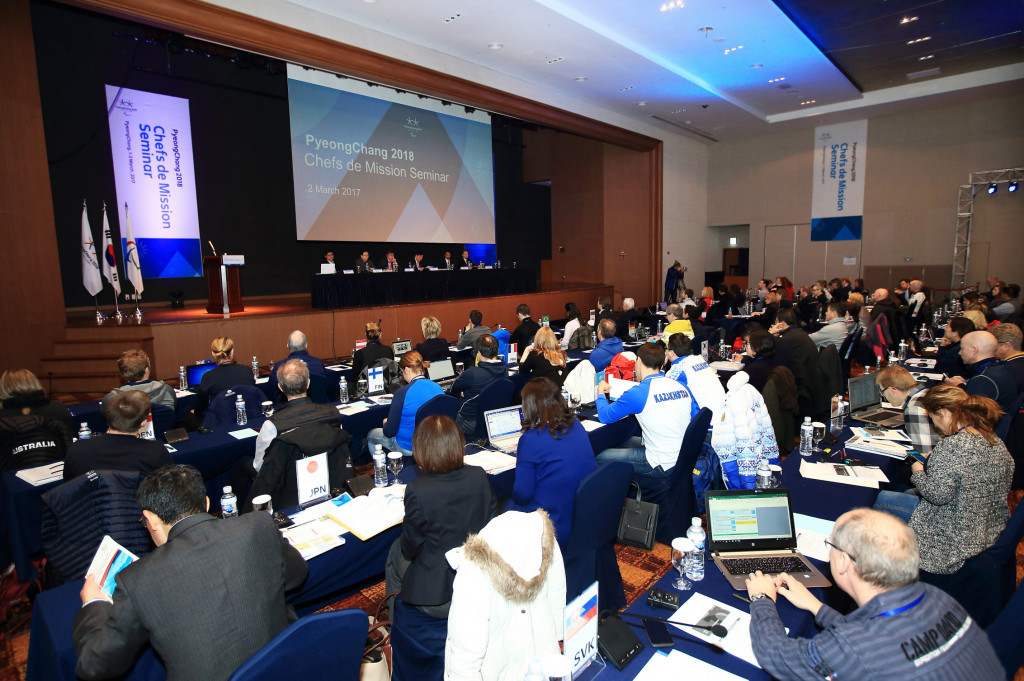 Pyeongchang 2018 welcomes delegates for NPC Chefs de Mission Seminar