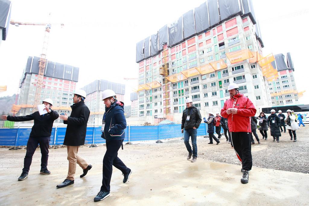 Delegates were taken to the Athletes' Village as part of the Seminar ©Pyeongchang 2018