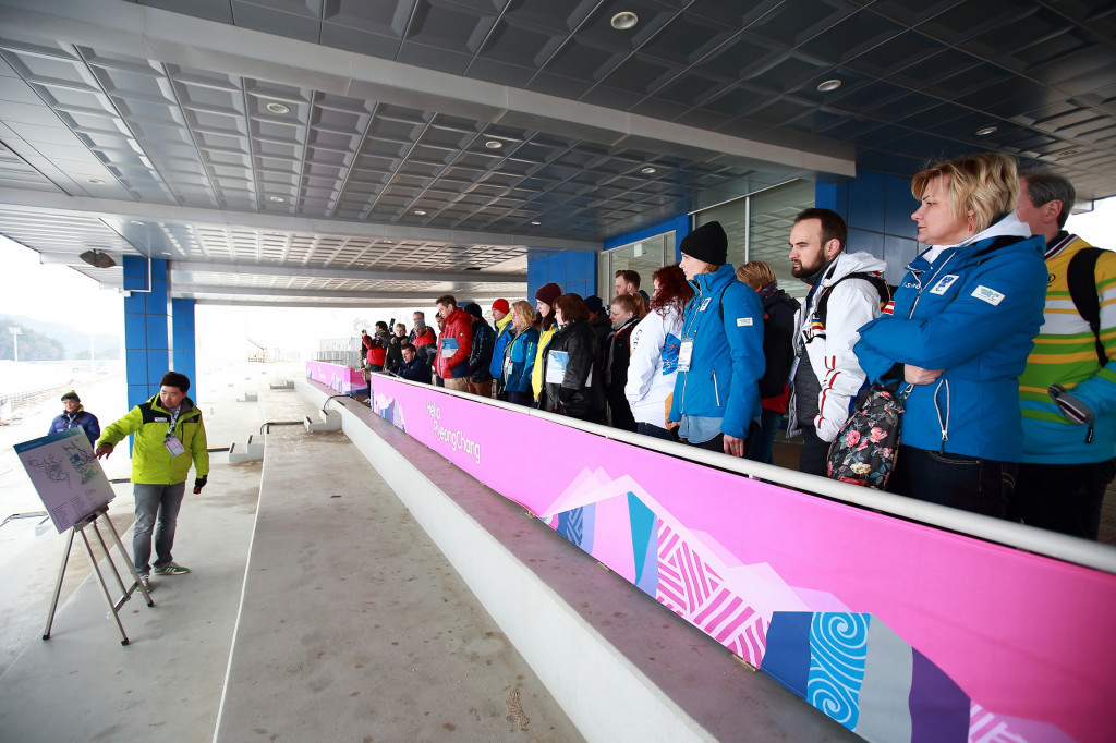 Delegates were also taken to visit the Mountain Custer Venues ©Pyeongchang 2018