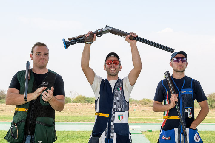 Riccardo Filippelli led an Italian one-two in New Delhi ©ISSF