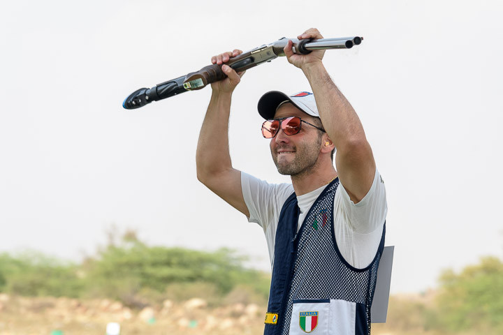 Riccardo Filippelli's winning score is a new world record due to rule changes ©ISSF