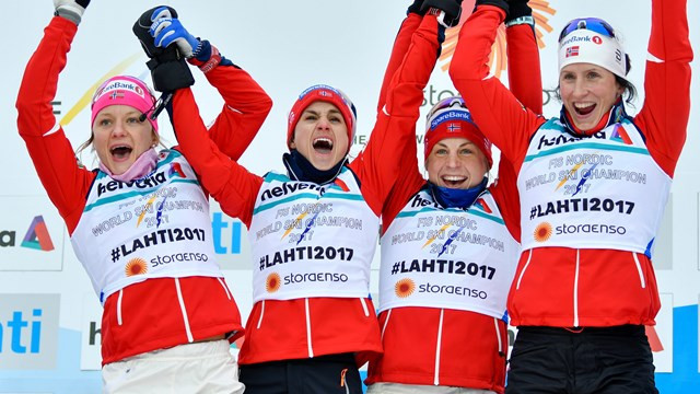 Norway ease to relay gold at 2017 FIS Nordic Ski World Championships